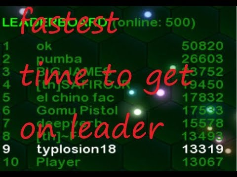 Slither.io MODDED} Fastest Time to get on leader