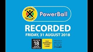 Powerball Results - 31 August 2018