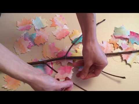 🍃Wall decor idea. 🍃Fall room decoration DIY.🍃 Paper craft.🍃