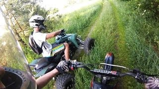 Pit Bike 124cc + Suzuki LT-Z400 | ride for fun | Mini dirt cross atv quad GoPro hero 3 Video