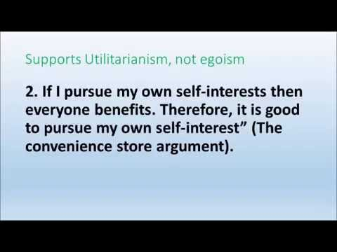 Ethical Egoism Lecture