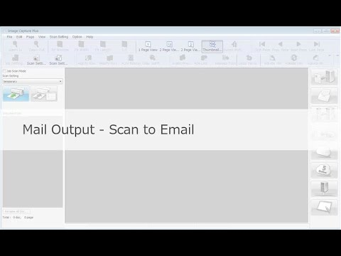 """Panasonic """"Image Capture Plus"""" Demo - Mail Output-Scan to Email"""