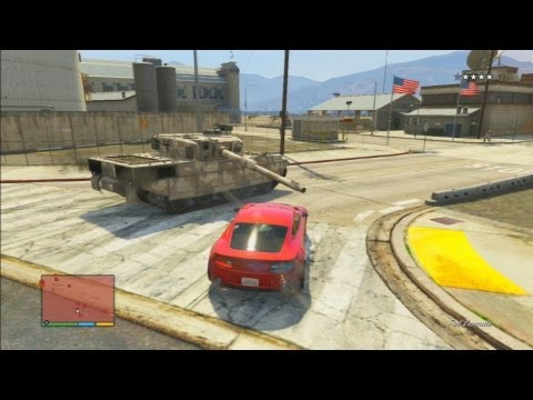 GTA V: How To Steal A Rhino TANK From Fort...