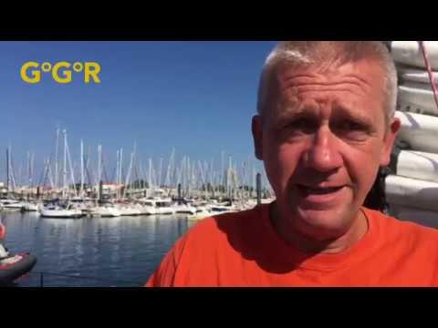 Visit of Norbert Sedlacek's innovative boat