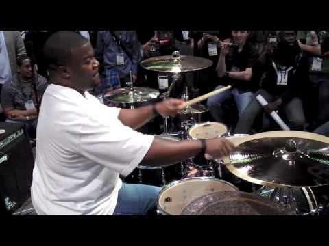 How to play the drums example by Sonor Artist Chris Coleman at NAMM 2010 Part 2