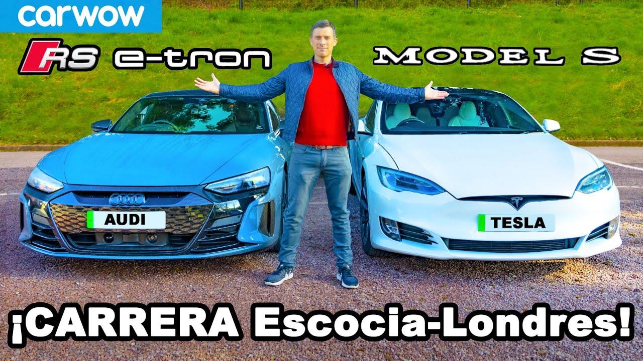 Audi RS e-tron GT vs Tesla Model S: ¡CARRERA de 919km de Escocia a Londres y RESEÑA!
