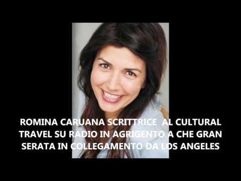 ROMINA CARUANA PROTAGONISTA AL CULTURAL TRAVEL  NEL PROGRAMMA CHE GRAN SERATA SU RADIO IN AGRIGENTO