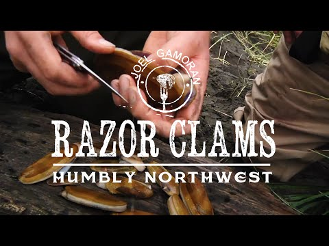 How to Catch & Cook Razor Clams with Basil Salt • {Humbly Northwest} • Joel Gamoran