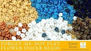 FORGET-ME-NOT Flat Flower Spacer Czech Glass Beads - New Arrivals