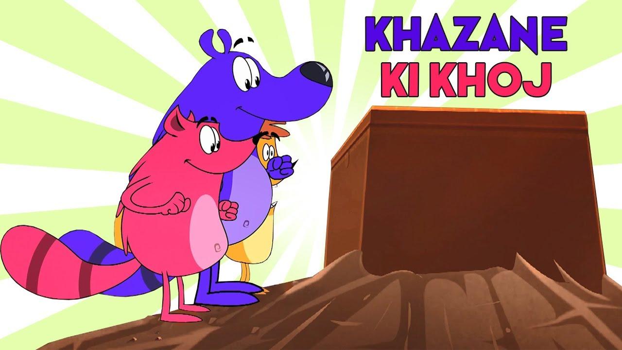 Khazane Ki Khoj Ep - 4 - Pyaar Mohabbat Happy Lucky - Hindi Animated  Cartoon Show - Zee Kids