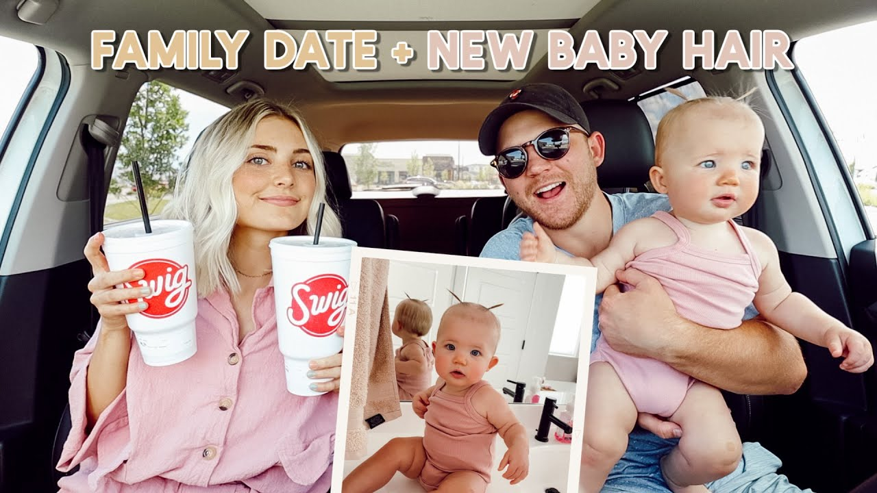 we went on a family date! golfing, car snacks + baby pigtails!!!!!