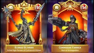 Warhammer Combat Cards Unfair Matchup: Eldrad vs Yarrick