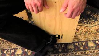 How to play a rock beat on the cajon - how to play cajon