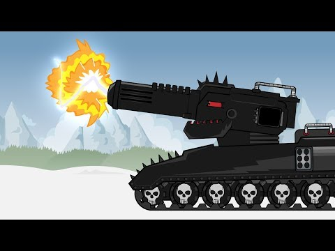 "Cartoon about tanks ""IRON MONSTER KV88 vs HYPER One"""