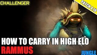 ✔ HOW TO CARRY GUIDE AS RAMMUS JUNGLE - CHALLENGER | FULL COMMENTARY | Season 4