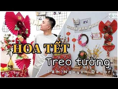 DIY Handmade | Hướng dẫn làm lẵng hoa trang trí Tết treo tường đẹp chanh sả - Tâm Nguyễn Decor