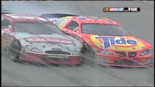 2003 Darlington Rickey Craven and Kurt Bush wild finish