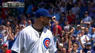 Lester picks off Pham at first in the 5th