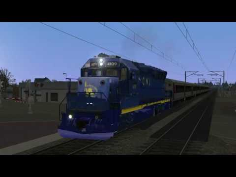 TS2020: NJT GP40PH-2 4109 Brings NJCL 2307 Into Red Bank (WIP CNJ Heritage Repaint From BVERailer)
