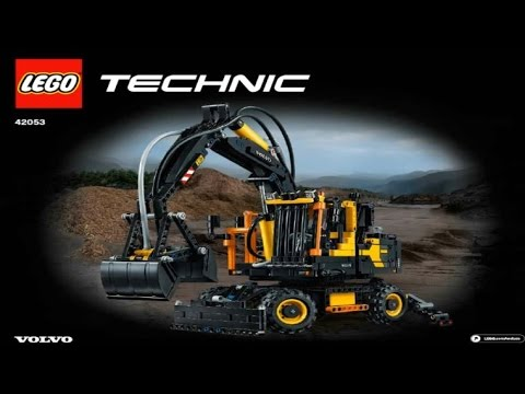 lego technic volvo ew160e 42053 youtube. Black Bedroom Furniture Sets. Home Design Ideas