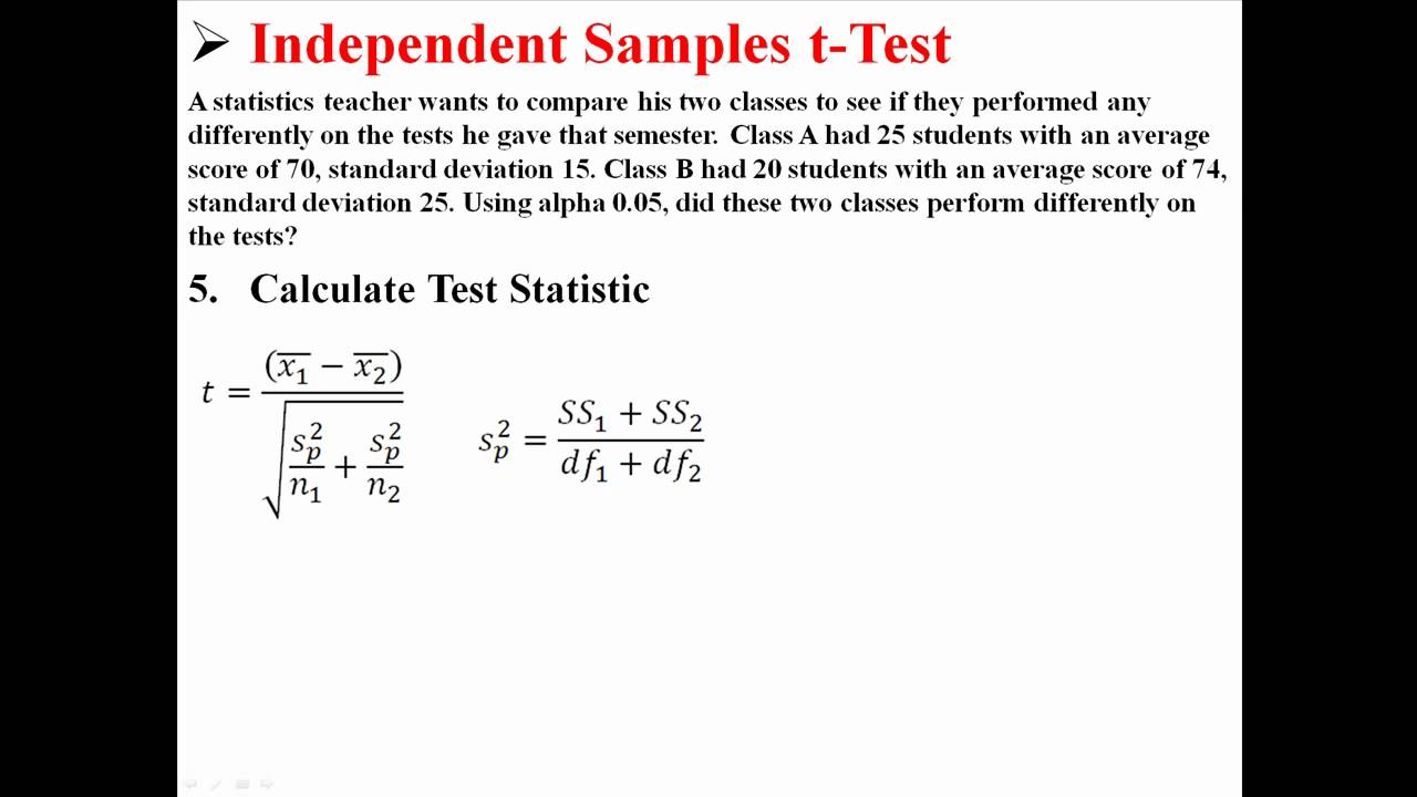 Independent Samples t-Test - YouTube