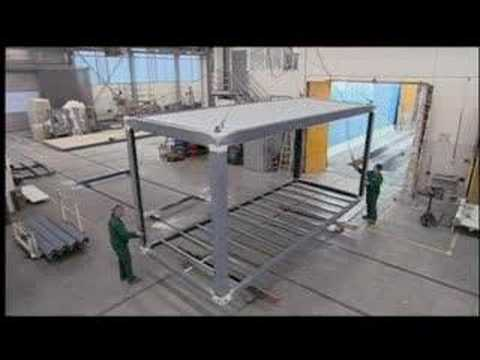 Alho construction modulaire youtube for Construction modulaire container