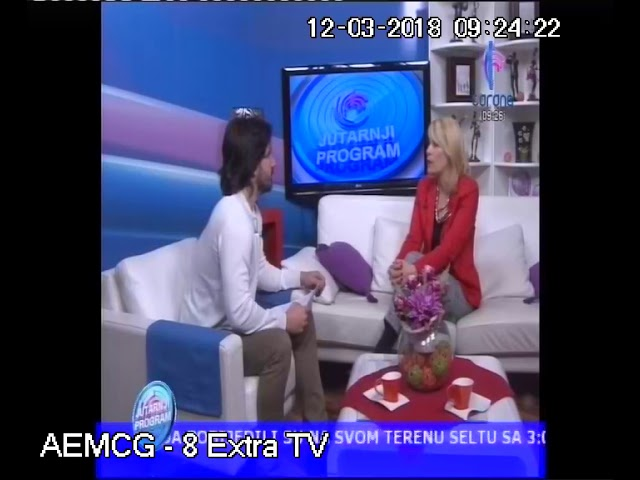 12 mart 2018, Corona TV Jutarnji program gostovanje Elvira Cekovic