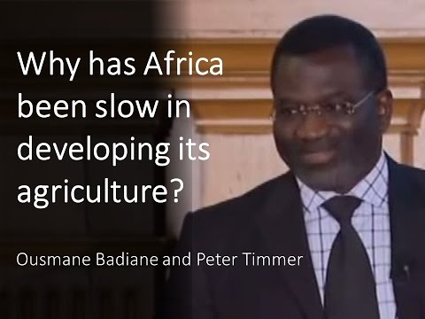 Why has Africa been slow in developing its agriculture?