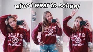 what i wear in a week! (school edition)