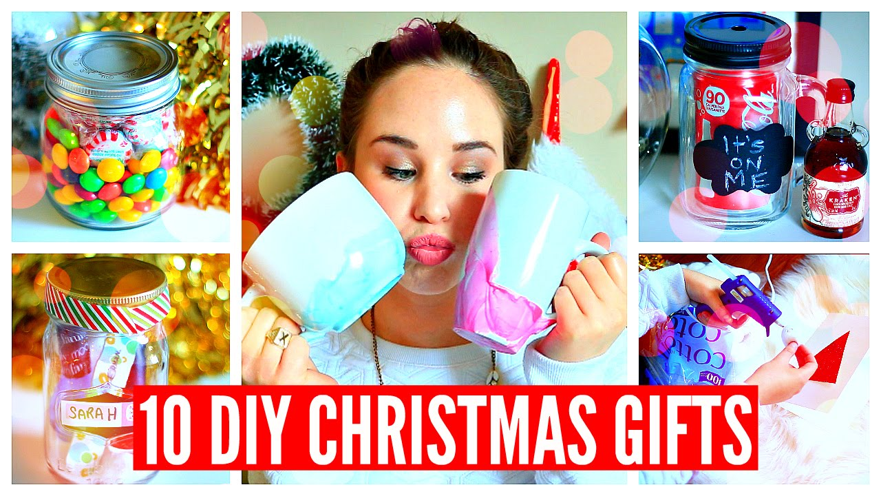 10 Diy Christmas Gifts Easy Cheap Cute Youtube