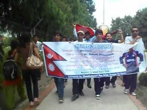 Nepali cricket fan club members going to welcome nepali national cricket team.
