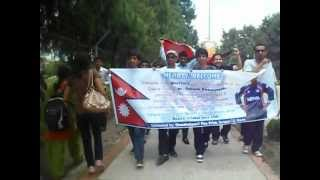 Nepali cricket fan club members going to welcome nepali national cricket team.