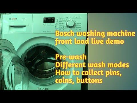 Bosch washing machine front load demo in telugu| Bosch washing machine review|self service