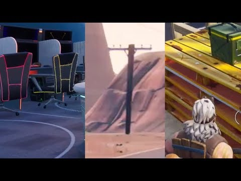 DESTROY CHAIRS, DESTROY UTILITY POLES AND WOODEN PALLETS - Week 4 Fortnite Challenge