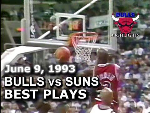 1993 Bulls vs Suns game 1 highlights