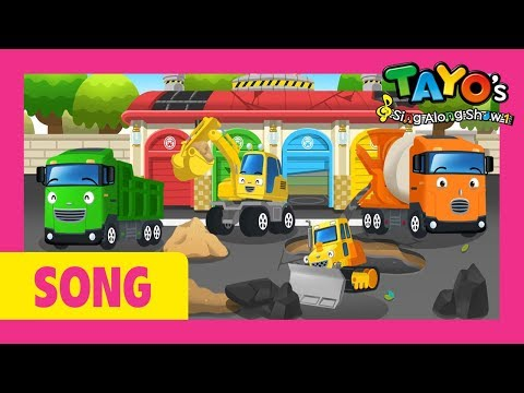 Tayo the strong heavy vehicles play song! l Tayo's Sing Along Show 1 l Tayo the Little Bus