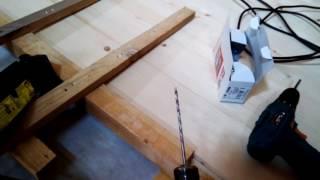 Укладка шпунта (доски) по 5,5 м. своими руками с помощью домкрата.