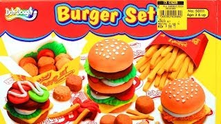 Doh-dough Burger Set: Chicken Nuggets French Fries Play Dough - Like Play-doh