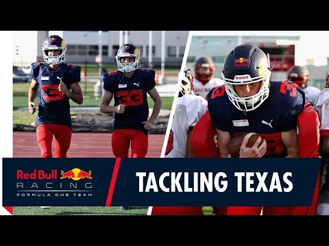 Go hard, or go home! Max Verstappen and Daniel Ricciardo play American Football