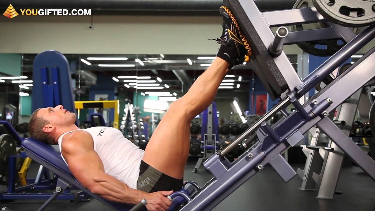 Упражнения для ног. Жим ногами.