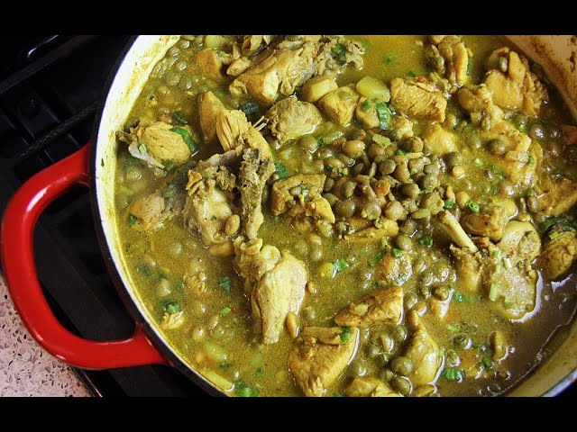 Curry Chicken With Pigeon Peas | CaribbeanPot.com