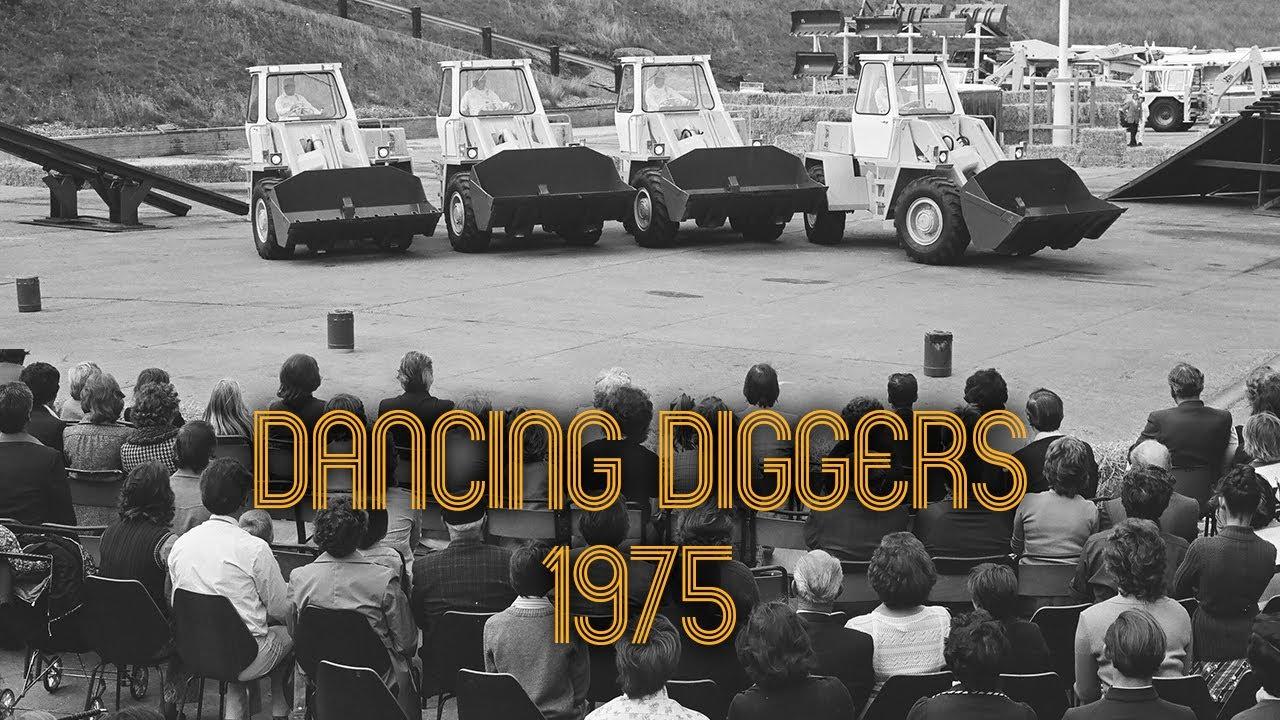 Vintage JCB Dancing Diggers Display - JCB's 30th Anniversary Celebrations, 1975
