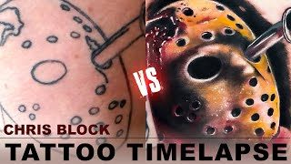 Friday the 13th Tattoo Cover-Up / Touch-Up - Timelapse