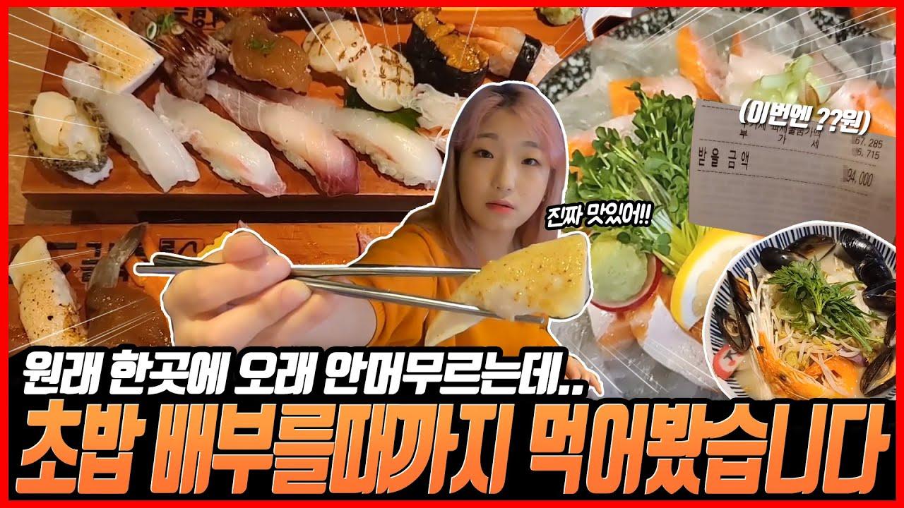 [강남 초밥 맛집] 이렇게 많이 먹는건 또 오랜만이네.. 초밥은 사랑입니다.. (올바른 스시) korean mukbang eating show 히밥