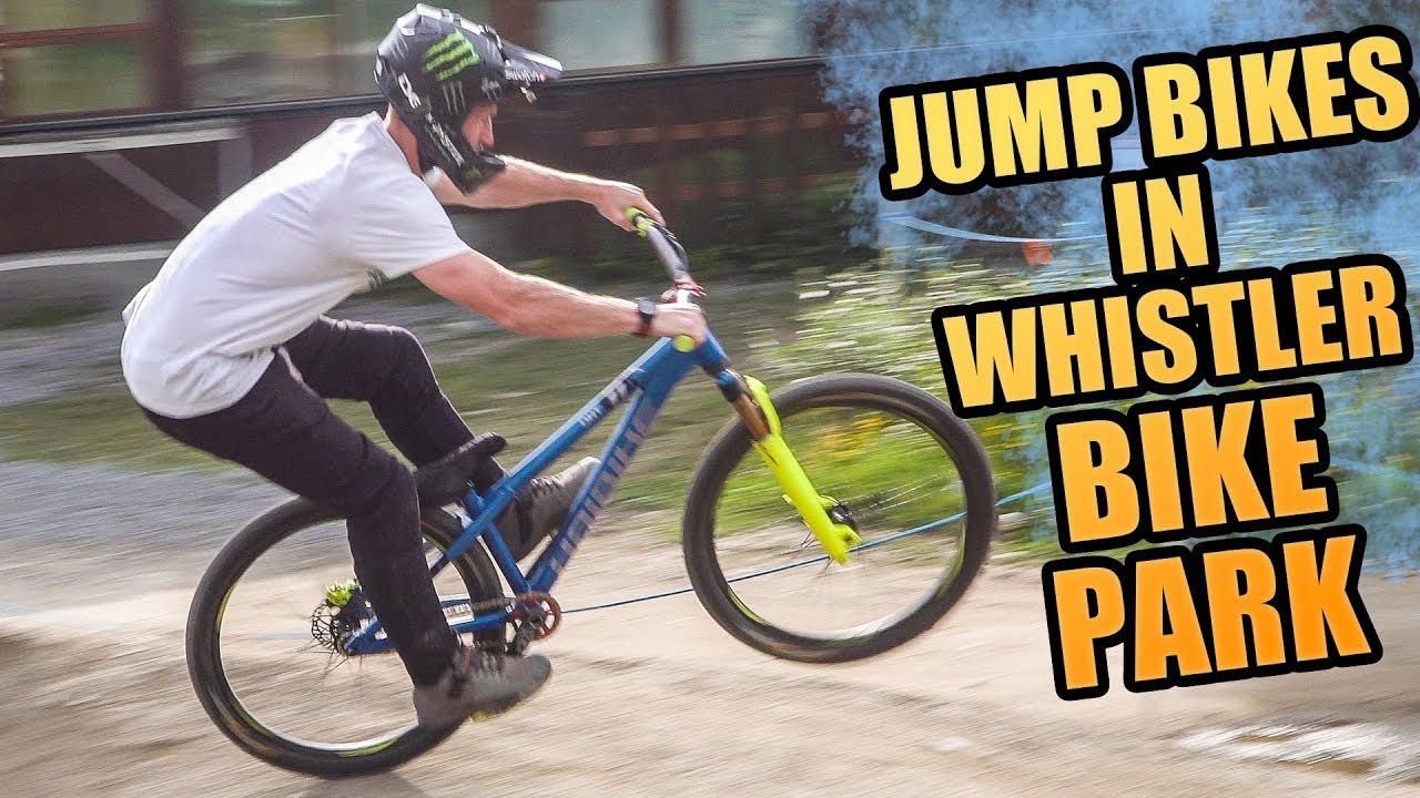 riding dirt jump bikes in whistler bike park