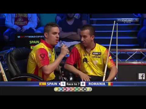 Spain vs Romania, World Cup Of Pool 2017 R1
