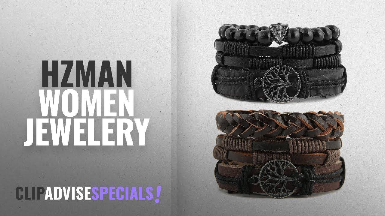 2840238c40a 10 Best Selling HZMAN Women Jewelery [2018 ]: HZMAN Mix 6 Wrap Bracelets  Men Women, Hemp Cords Wood