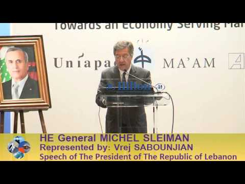 Beirut Conference 2013 - Vrej SABOUNJIAN: Speech of The President of The Republic of Lebanon