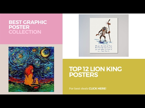 Top 12 Lion King Posters // Best Graphic Poster Collection