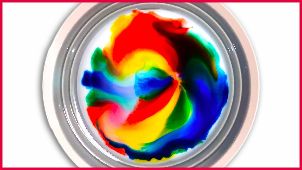DIY Magic Milk Food Coloring Experiment